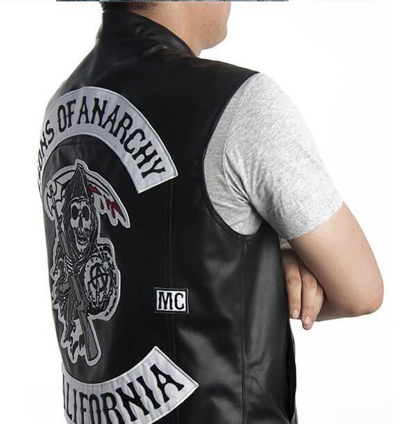 Jax Teller Vest Leather Sons Of Anarchy Motorcycle Vest For Sale Jacket Tops Vest Jacket Spring Jackets