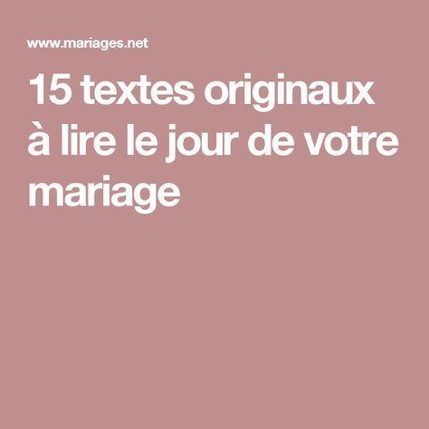 15 textes originaux à lire le jour de votre mariage