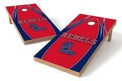 Ole Miss Rebels Single Cornhole Board - The Edge