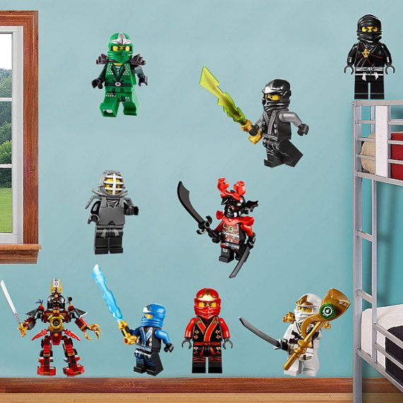 Ninjago Lego 9 Characters Decal Removable Wall By