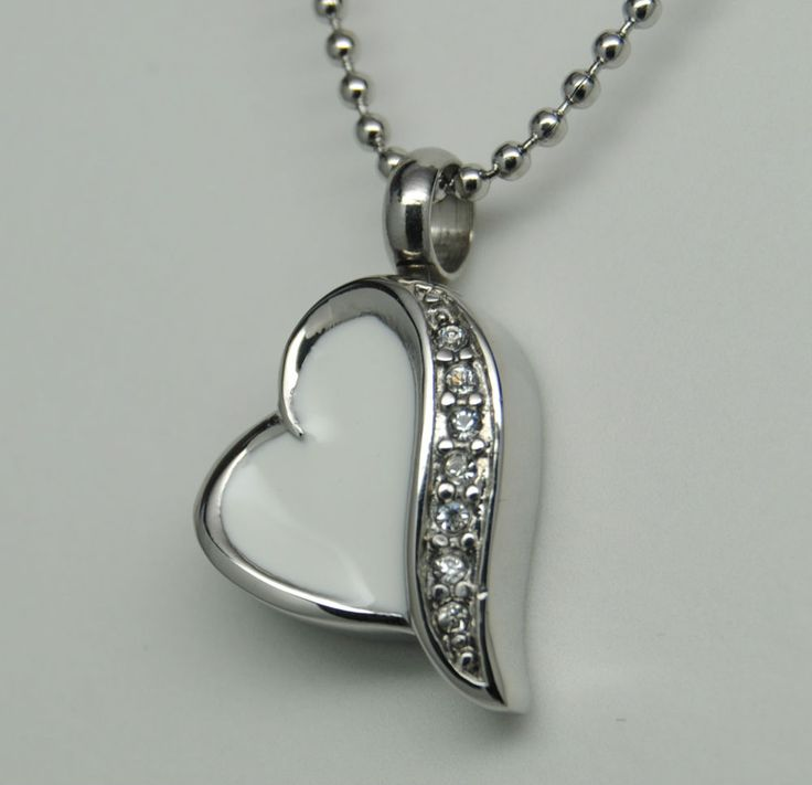 10 best akh images on pinterest cremation jewelry cremation pretty white heart cremation urn necklace cremation jewelry pet urn heart urn aloadofball Choice Image