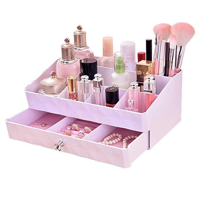 Webi Jewelry Makeup Drawer Organizer Large Capacity Double
