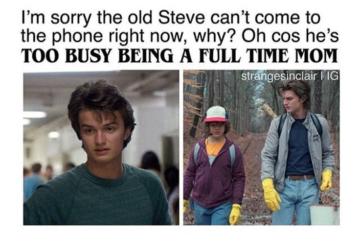 Why all the Mr. Mom jokes? He become a good guy, a role model, and a big brother.... not seeing why he is getting so much flack>It's not flack it's praise. We like Momma Steve