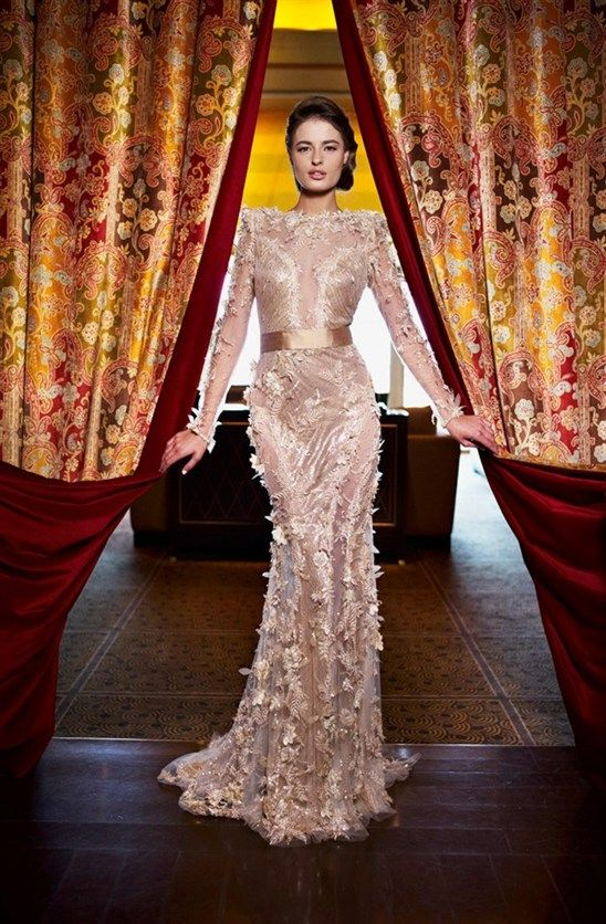 21  Ziad Nakad Haute Couture 2013 ** wedding dress..in a cream color maybe.. #provestra