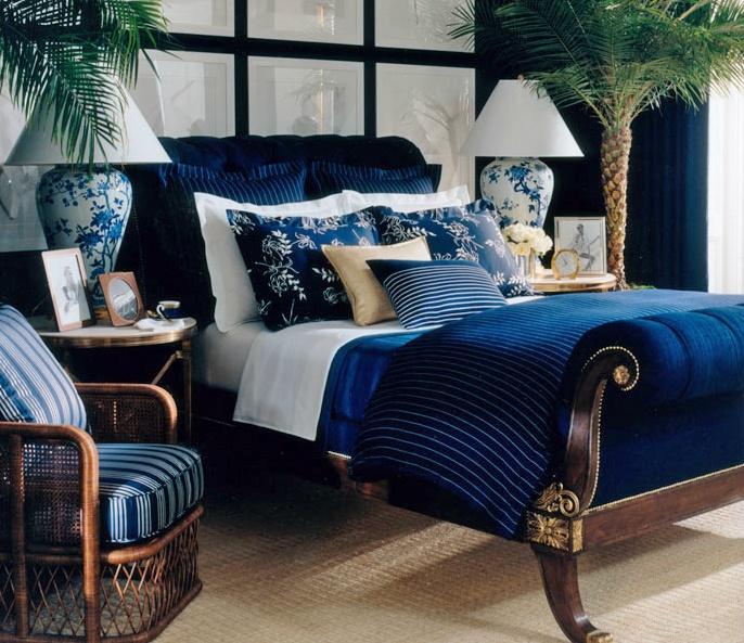 Beautiful Blue Bedrooms: Ralph Lauren, Le Grand Hotel Collection