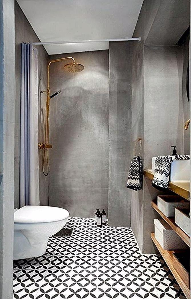Modele Salle De Bain Idee Carrelage Salle De Bain Carrelage Sol Hexagonal En Noir Et Blanc Murs En Diy Bathroom Remodel Bathrooms Remodel Zen Bathroom Decor