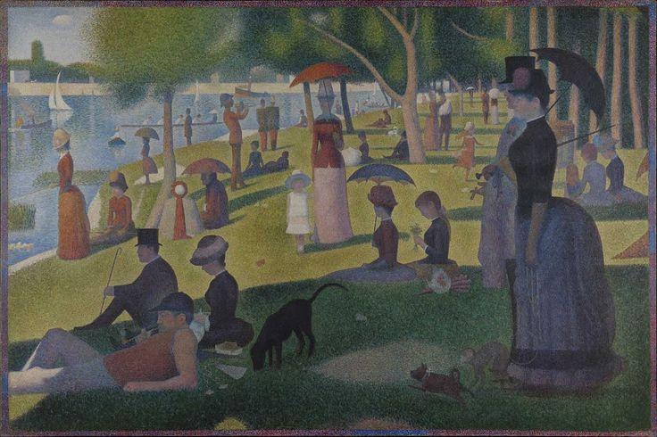 DOMENICA POMERIGGIO Seraut- 1884/86- olio su tela- The Art Institute, Chicago