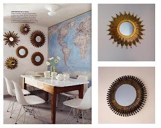 Espejos sol similares a los de gancemania en un office actual  (Fotos revista Nuevo Estilo)