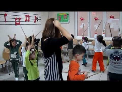 Ritim Ve Baget Dansı Orff Eğitimi Anaokulu Ormanda Tavşanlar (Orff Enstrümanları) - YouTube