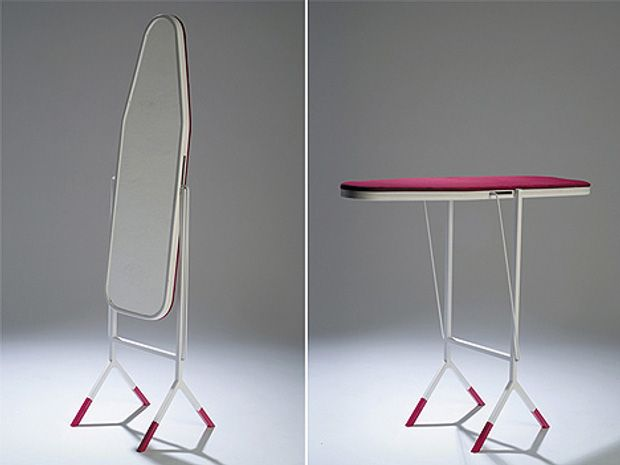 ultifunction is great when it can be pulled off without compromising style. This ironing board designed by Aissa Logerot flips back into a full-length mirror.
