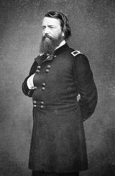 John Pope (March 16, 1822 – September 23, 1892) was a career United States Army officer and Union general in the American Civil War. He had a brief but successful career in the Western Theater, but he is best known for his defeat at the Second Battle of Bull Run (Second Manassas) in the East. Pope was born in Louisville, Kentucky, the son of Nathaniel Pope, a prominent Federal judge in early Illinois Territory and a friend of lawyer Abraham Lincoln.