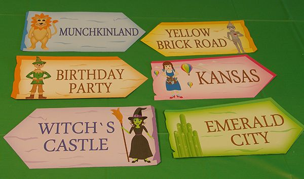 Printable Templates Wizard of Oz Character Signs, Wizard of Oz party