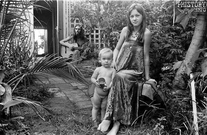 Семья хиппи. Кэрнс. Австралия. 1973 год.