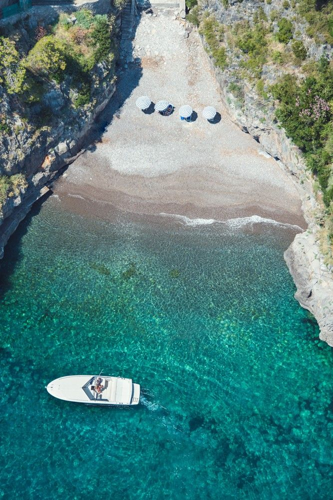 Secret Beach, Positano http://www.exquisitecoasts.com/the-amalfi-coast.html
