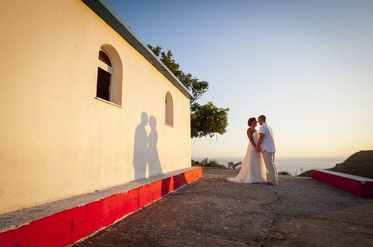 Chapel Wedding Sunset in Kefalonia Greece