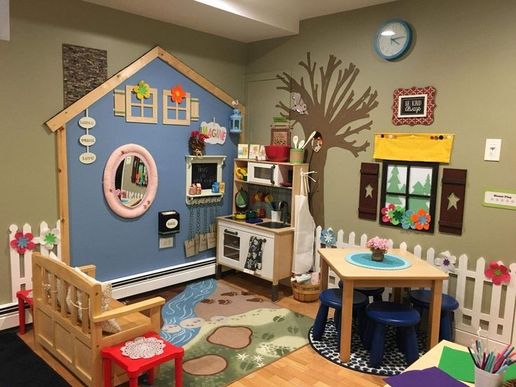 Check out the chimney and the picket fence… soooo cute! #preschool
