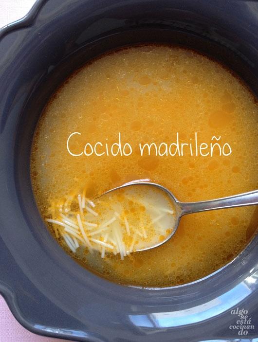 Sopa de cocido.