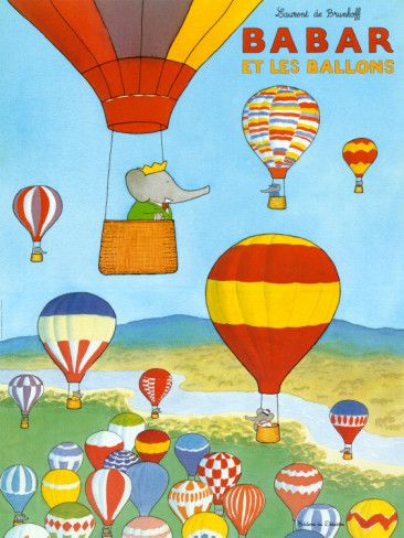 Aunt K needs to buy this.Shared Room, De Brunhoff, Kids Room, Vintage Illustration, Art Prints, Ballon Art, Laurent De, Les Ballon, Baby Boy