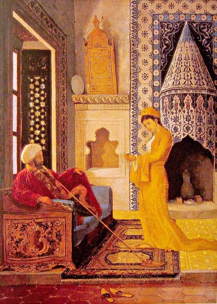Osman    Hamdi    Bey    ( Turkish Painter)               Kahve  Ocağı