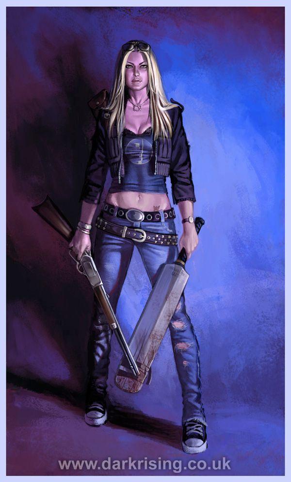 glenn orbik illustrations | Erica: Zombie Killer by ...