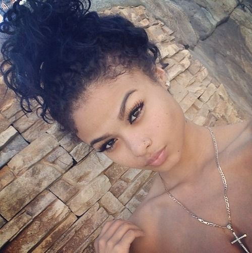Messy Buns Curly Hair Google Search Curly Messy Buns