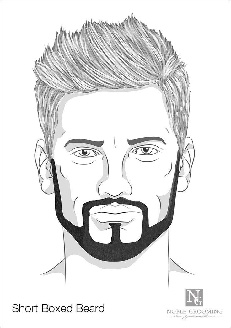 Short Boxed Beard Style