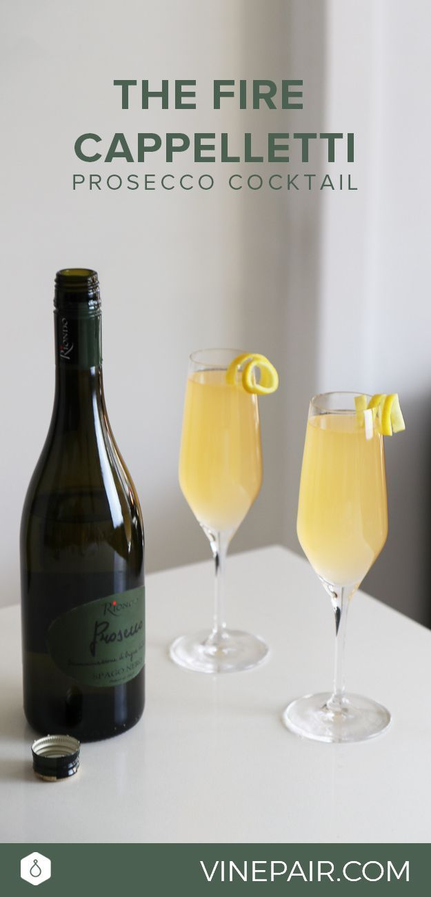 The Fire Cappelletti Recipe - This take on the mimosa is a great Riondo Prosecco cocktail for your next Sunday brunch.