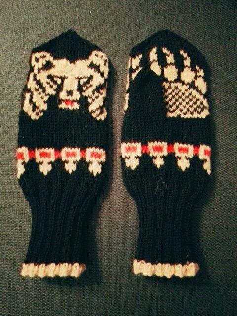 'Olutlapaset' karhulapaset bear mittens and helavyö