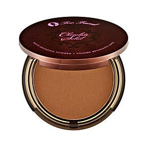 Chocolate Soleil by Two Faced -it has no shimmer, lasts forever and it smells like chocolate! Beats Benefit Hula (although it is still one of my faves)