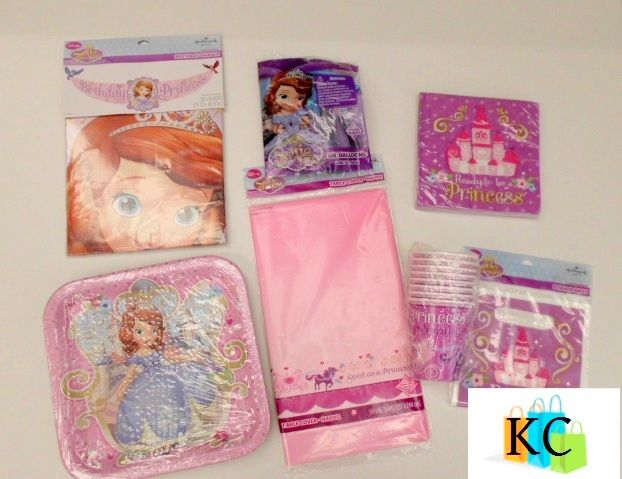 Sofia The First Party pack Includes: Table cover, Plates, Cups, Loot bags, Napkins, Balloons, Banner $52.50 Layby Welcome on All Sets.. $10 per week