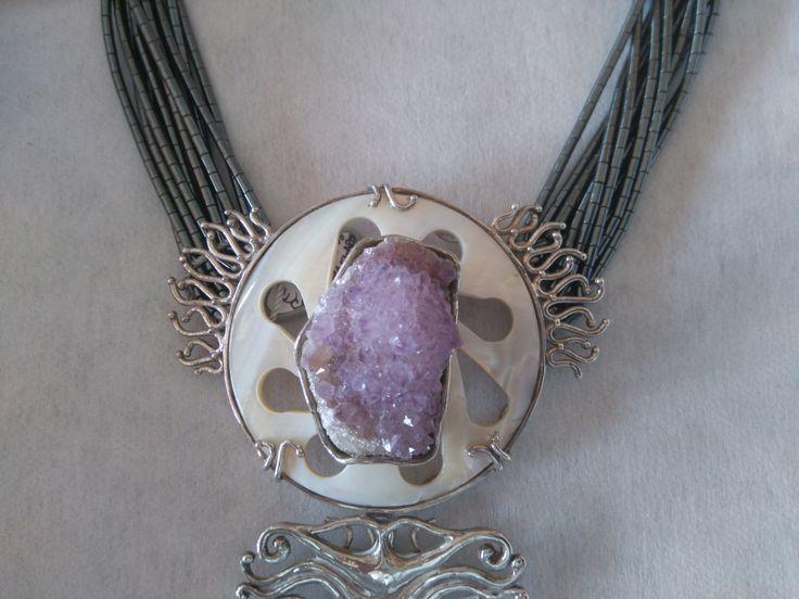 in fiore gioiello collana argento di ilpuntocarato su Etsy