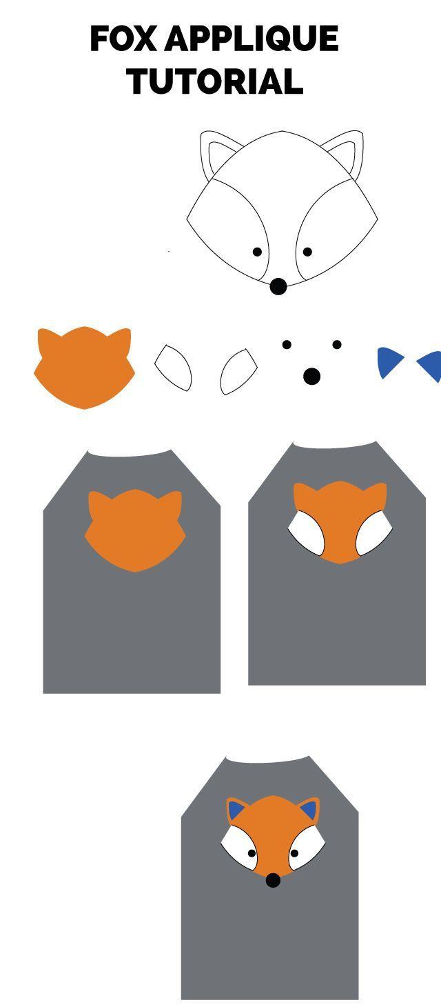 Fox applique pattern