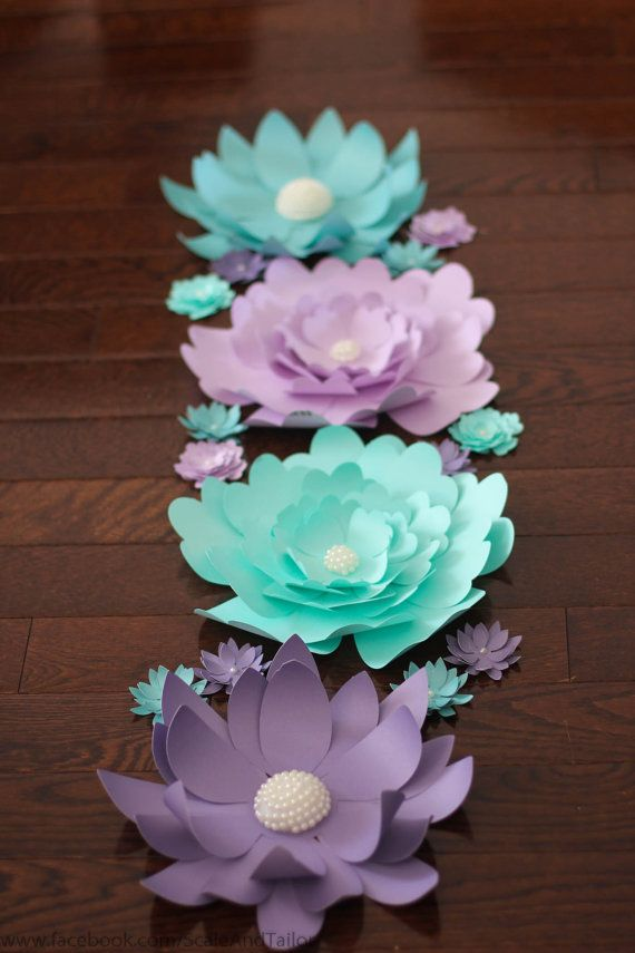 Giant Paper Flowers. Paper Flowers. Paper by ScaleAndTailor