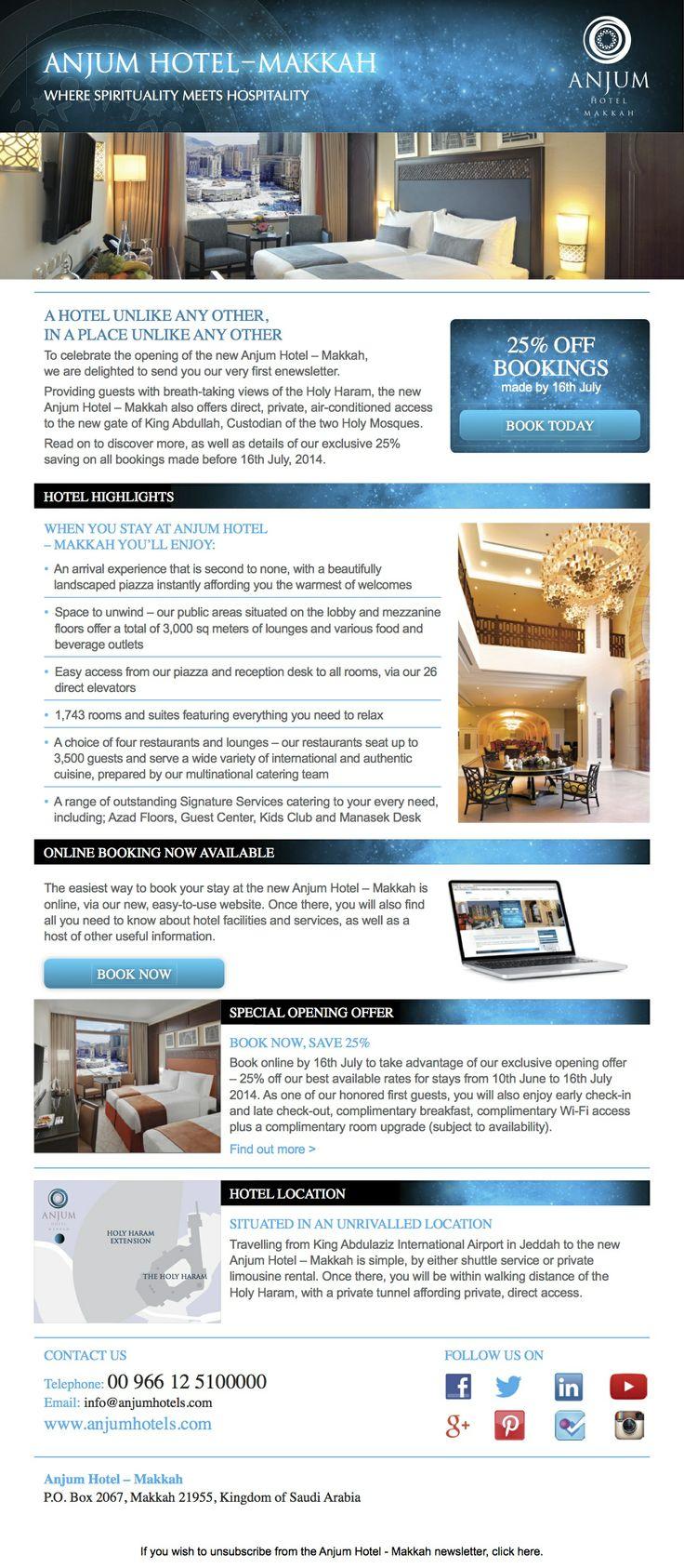 Anjum Hotel Makkah First newsletter is out!!!