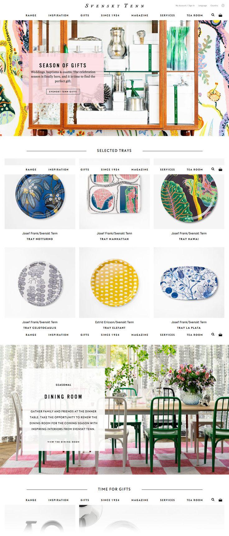 Svenskt Tenn (More web design inspiration at topdesigninspiration.com) #design #web #webdesign #sitedesign #responsive #ux #ui