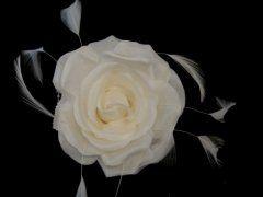 Single Silk Rose - Ivory
