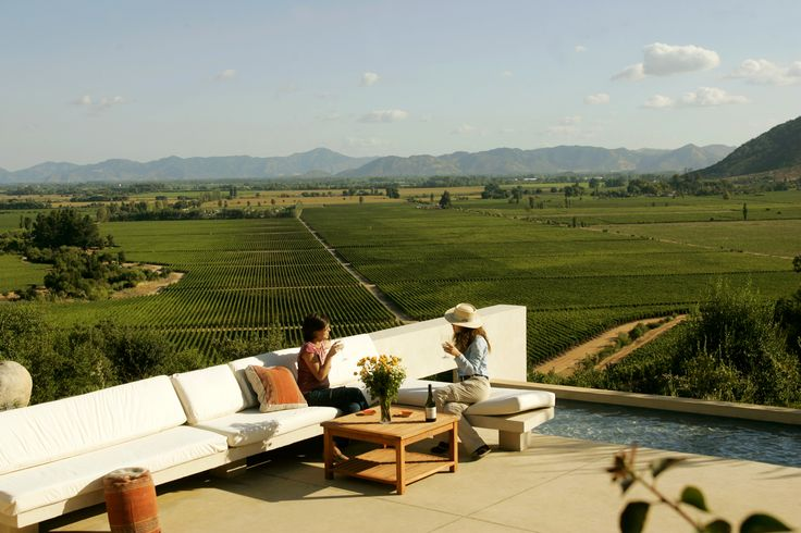 Casa Lapostolle overlooking the vineyards. #Colchagua #Chile