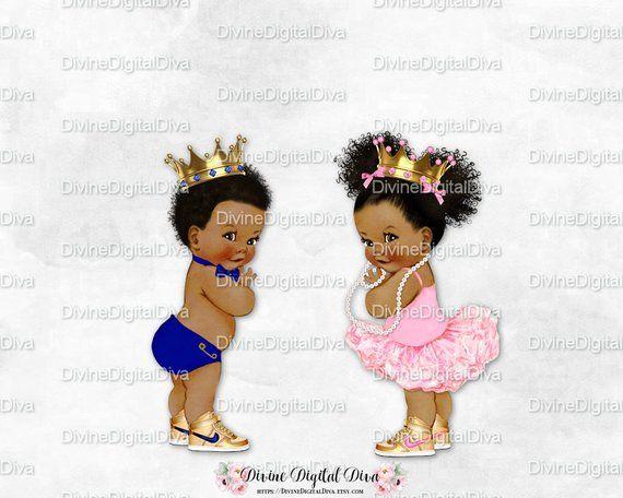 Prince Princess Baby Boy Ballerina Girl Dark Blue Pink Gold