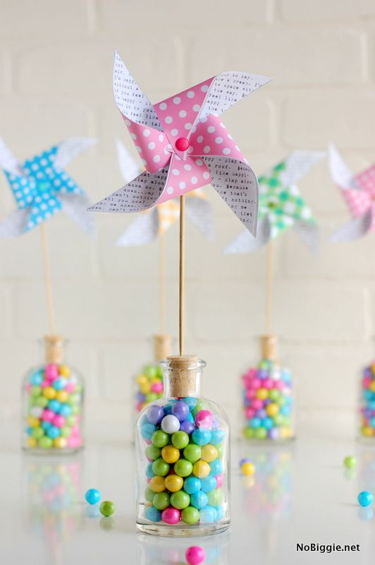 Last-minute Easter ideas: Paper Pinwheel Printables by No Biggie