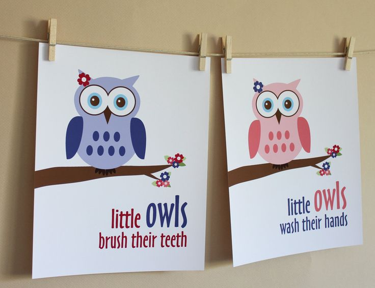 Little Girl Owl Bathroom Art Prints Part 70