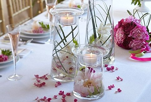 Partylite Symmetry Candleholders...I want them! You can change what you put inside the glass holders to reflect each season and holiday!