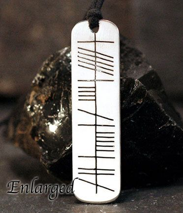 Enlarged view of My Soul Friend - Mo Anam Cara Ogham Necklace