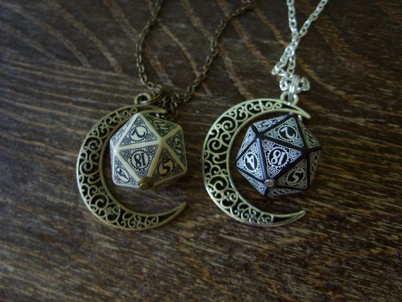 Steampunk - D20 steampunk dice pendant steam punk necklace steampunk jewelry dnd rpg geek dungeons and dragons game gamer geeky polyhedral toothed bar by MageStudio