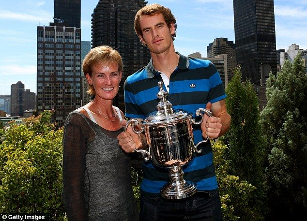Andy Murray & his mother Judy