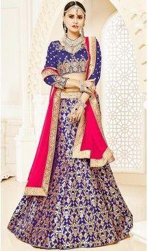 Blue Color Brocade A Line Style Party Ghagra Choli | FH494675822 #heenastyle, #designer, #lehengas, #choli, #collection, #women, #online, #wedding , #Bollywood, #stylish, #indian, #party, #ghagra, #casual, #sangeet, #mehendi, #navratri, #fashion, #boutique, #mode, #henna, #wedding, #fashion-week, #ceremony, #receptions, #ring , #dupatta , #chunni , @heenastyle , #Circular , #engagement
