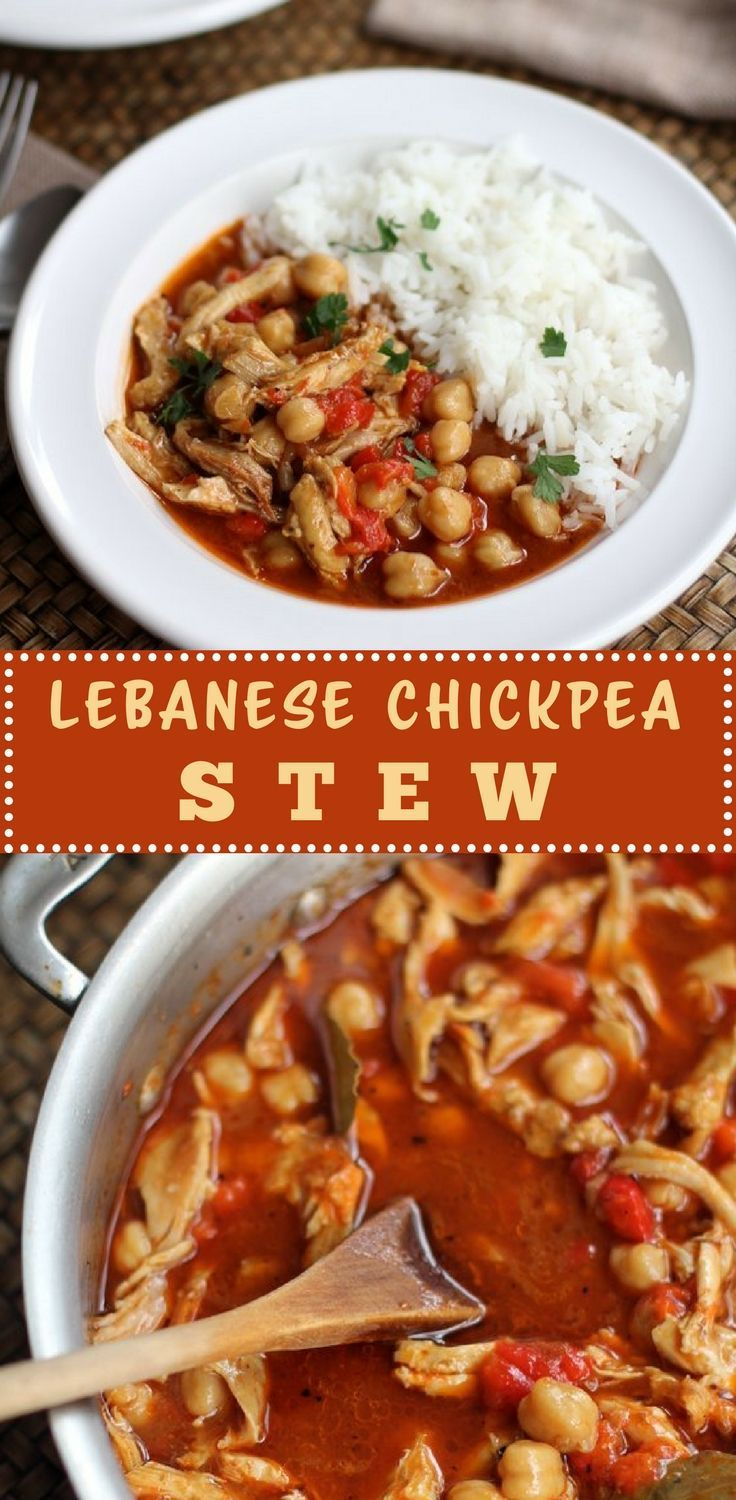 Lebanese Chickpea Stew is a beautifully simple stew that uses chicken thighs and quickly comes together for a soulful and satisfyingly savory dish. It gets an aromatic kick from cumin, garlic, and other spices. You will love how easy it is to make an serve over rice or with fresh bread. Store in the fridge for a few days and see how the flavors get better over time.
