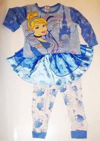 Disney Girl's Cinderella Pyjama Blue, Size 2T 1.50$