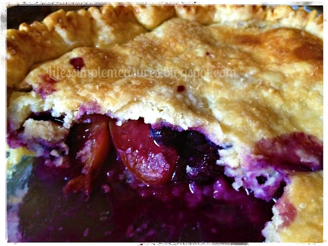 Life's Simple Measures: TWD Baking with Julia: Blueberry Nectarine Pie