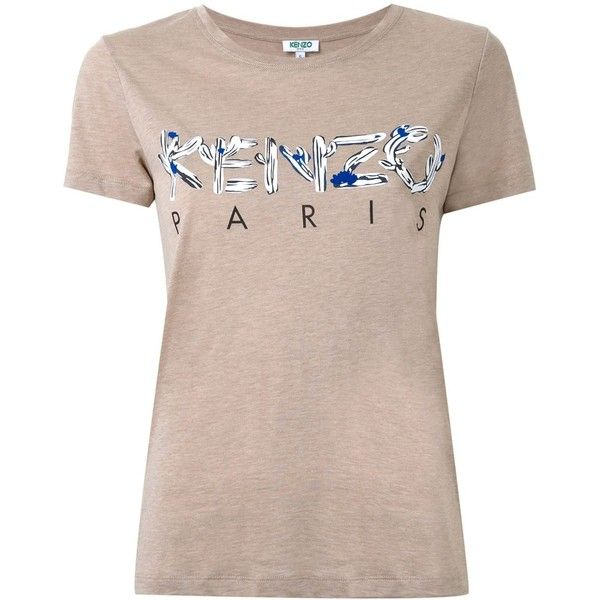 Kenzo Kenzo Paris T-Shirt (945 SEK) ❤ liked on Polyvore featuring tops, t-shirts, brown, short sleeve tops, brown t shirt, kenzo top, short sleeve t shirt and short sleeve tee