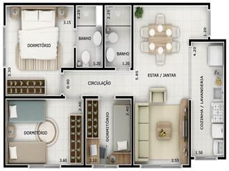 Casa de 3 quartos com uma suíte é uma ótima opção para quem quer conforto, espaço, comodidade e praticidade.A construção da sua casa é um sonho, o abstrato transformado em projeto, que mais tarde vai se tornar concreto, literalmente falando. A escolha do projeto da casa não é tão simples assim, devem-se levar em consideração
